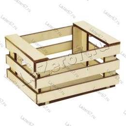 Деревянный ящик-лоток 13х10х7