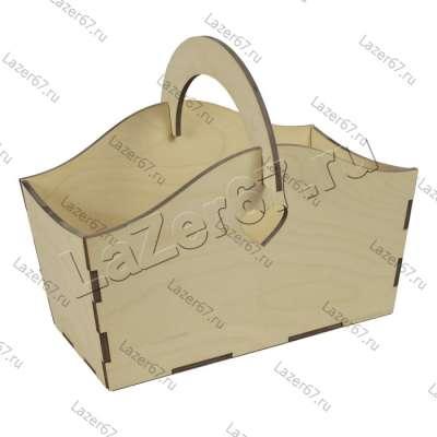 Ящик из дерева с округлой ручкой 26*14*23
