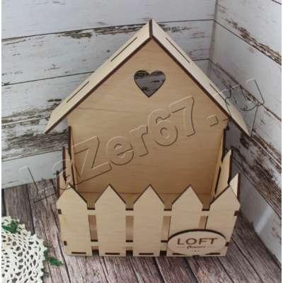 Купить домик с заборчиком и логотипом