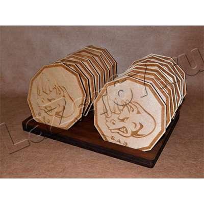 Набор деревянных костеров на подставке купить в Смоленске