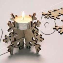 Новогодний деревянный подсвечник