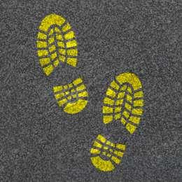 Трафарет «Следы ботинок»
