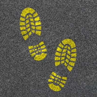 Трафарет «Следы ботинок» купить