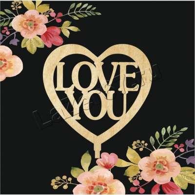 """Топпер для букета """"Love you"""" купить в Смоленске"""